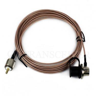 NAGOYA RC-ECH-316 5m RG-316 Cover Extension Coaxial Cable 4 YAESU ICOM KENWOOD Mobile Radio Antenna