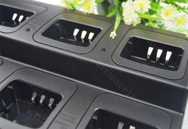 Replacement KSC35 6 Units Six Way Rapid Desktop Charger for Kenwood TK-2200L TK-3200L KNB-45 Battery