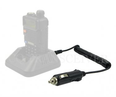 12V DC Travel Car Charger Cable for BaoFeng Walkie Talkie UV-5R UV-5RA UV-5RB UV-5RE TYT TH-F8