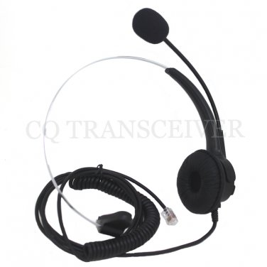 Replacement Mono Telephone Headset RJ9 Crystal Clear Plug for AVAYA Lucent Phone 4610 4620 4621
