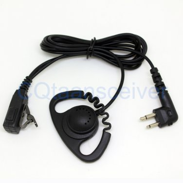 D Loop Earhook Mic Headset for Motorola Walkie Talkie GP2000 GP2100 GP300 GP308 GP68 GP88 GP88S