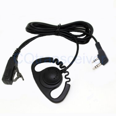 Zigzag D Shape Earhook Headset for Kenwood 2 Way Radio TH-21 TH-21AT TH-21BT TH-22 TH-22A TH-22AT