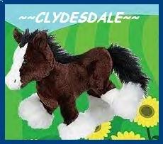 WEBKINZ CLYDESDALE WEBKINS RARE HFT NEW!!