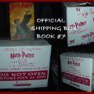 HARRY POTTER COLLECTIBLE SHIPPING BOX FROM DEATHLY HALLOWS