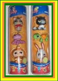 Littlest Pet Shop 2 HALLOWEEN TUBES 6 pets NEW&HTF CUTE