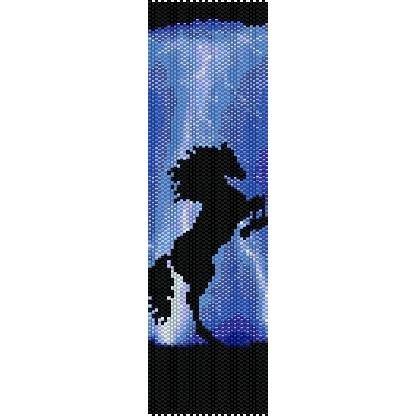 Thunder Horse Loom Beading Pattern For Cuff Bracelet