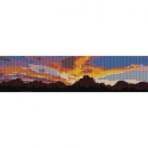 MOUNTAINS IN SUNSET - LOOM beading pattern for cuff bracelet