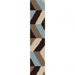 CHEVRON ZIG ZAG  - LOOM beading pattern for cuff bracelet SALE HALF PRICE OFF