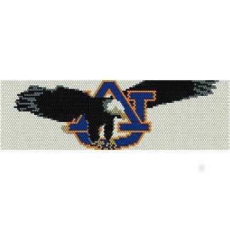 Auburn War Eagle Loom Beading Pattern For Cuff Bracelet