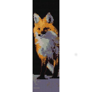 Red Fox Gazing Loom Beading Pattern For Cuff Bracelet