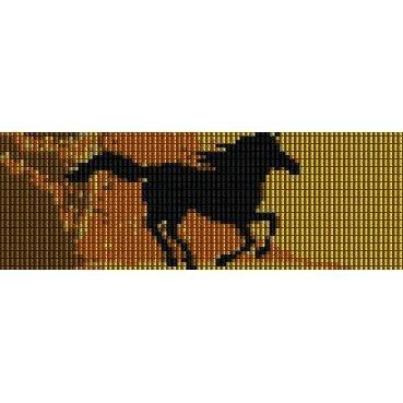 Running Horse Peyote Beading Pattern For Cuff Bracelet