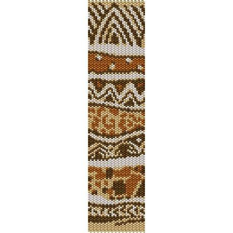 Wild Safari Print Loom Beading Pattern For Cuff Bracelet