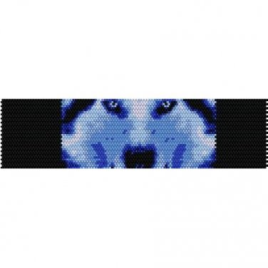 WINTER WOLF - PEYOTE beading pattern for cuff bracelet SALE HALF PRICE OFF