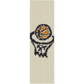 BASKETBALL - PEYOTE beading pattern for cuff bracelet SALE HALF PRICE OFF