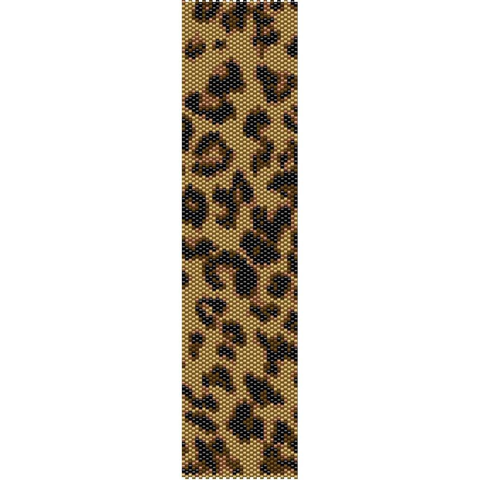 Leopard Print Pattern Peyote Beading Pattern For Cuff