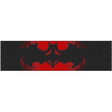 Batman Logo Peyote Beading Pattern For Cuff Bracelet