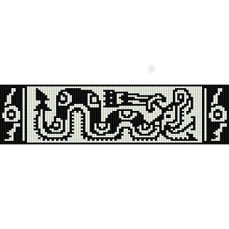 Queen Of Snakes Aztec Design Peyote Beading Pattern For
