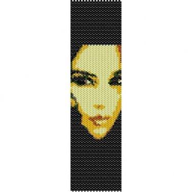 MONICA BELLUCCI ART - PEYOTE beading pattern for cuff bracelet SALE HALF PRICE OFF