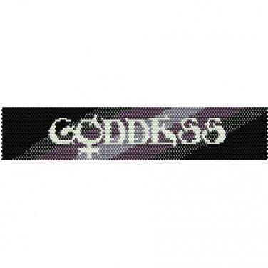 GODDESS  - LOOM beading pattern for cuff bracelet SALE HALF PRICE OFF