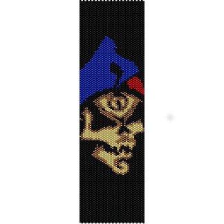 SKULL JESTER JOKER  - LOOM beading pattern for cuff bracelet SALE HALF PRICE OFF