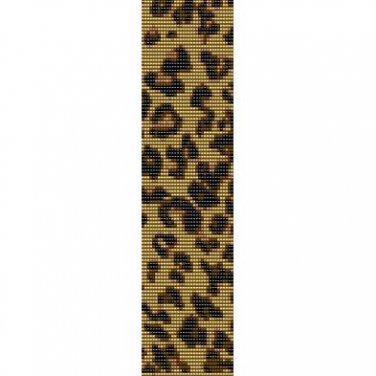 LEOPARD PRINT PATTERN  - LOOM beading pattern for cuff bracelet SALE HALF PRICE OFF