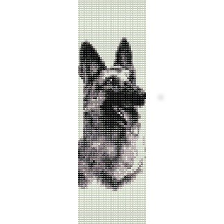 German Shepherd Loom Beading Pattern For Cuff Bracelet