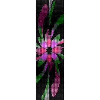 Fractal Flower Loom Beading Pattern For Cuff Bracelet