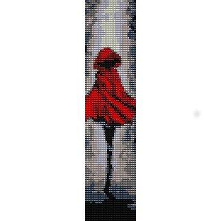 LITTLE RED RIDING HOOD ART  - LOOM beading pattern for cuff bracelet SALE HALF PRICE OFF