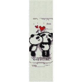 PANDA LOVE  - LOOM beading pattern for cuff bracelet SALE HALF PRICE OFF
