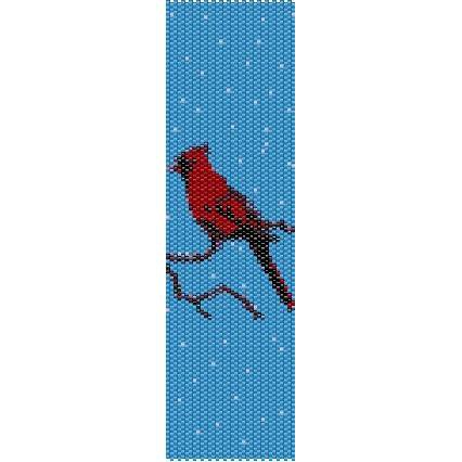 Red Cardinal Loom Beading Pattern For Cuff Bracelet Sale