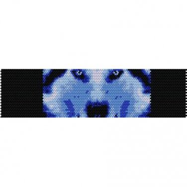 WINTER WOLF  - LOOM beading pattern for cuff bracelet SALE HALF PRICE OFF