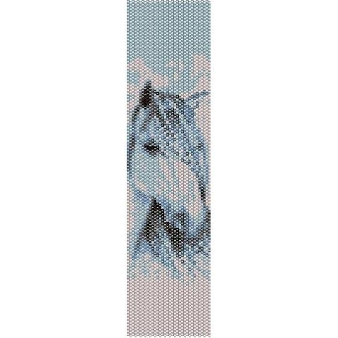 Shadowfax Stallion Loom Beading Pattern For Cuff