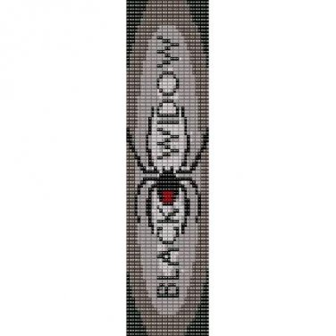 BLACK WIDOW SPIDER  - LOOM beading pattern for cuff bracelet SALE HALF PRICE OFF