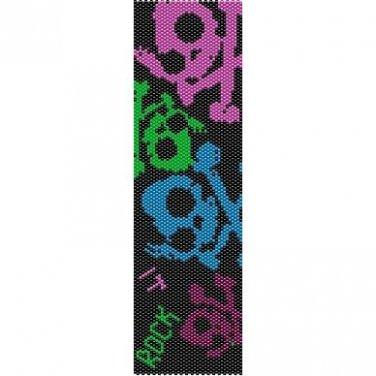 SKULLS ROCK - LOOM beading pattern for cuff bracelet SALE HALF PRICE OFF