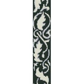 Leaves Abstract Loom Beading Pattern For Cuff Bracelet