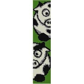 MOOO FUNNY COWS  - LOOM beading pattern for cuff bracelet SALE HALF PRICE OFF