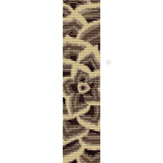 CONTEMPORARY FLOWER  - LOOM beading pattern for cuff bracelet SALE HALF PRICE OFF