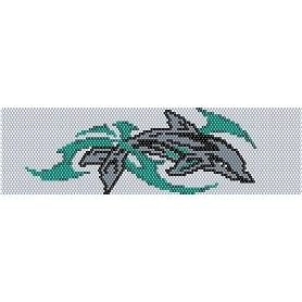DOLPHIN  - LOOM beading pattern for cuff bracelet SALE HALF PRICE OFF