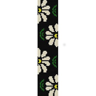 DAISIES 1 - LOOM beading pattern for cuff bracelet SALE ...