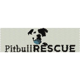 PITBULL DOG RESCUE  - LOOM beading pattern for cuff bracelet SALE HALF PRICE OFF