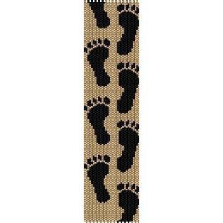 FOOTPRINTS  - LOOM beading pattern for cuff bracelet SALE HALF PRICE OFF