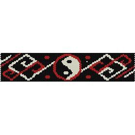 YIN YANG  - LOOM beading pattern for cuff bracelet SALE HALF PRICE OFF