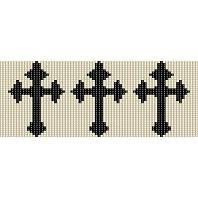 TRIPLE CELTIC CROSS  - LOOM beading pattern for cuff bracelet SALE HALF PRICE OFF