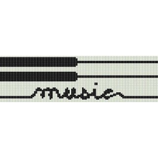 PIANO MUSIC  - LOOM beading pattern for cuff bracelet SALE HALF PRICE OFF