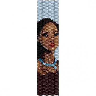 PRINCESS POCAHONTAS  - LOOM beading pattern for cuff bracelet SALE HALF PRICE OFF
