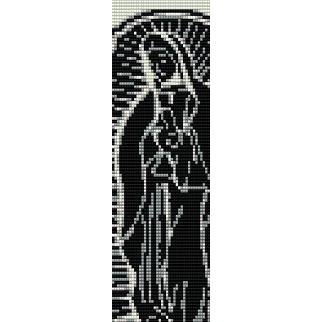 LADY OF GUADALUPE  - LOOM beading pattern for cuff bracelet SALE HALF PRICE OFF