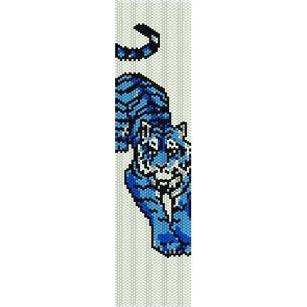 Blue Tiger Loom Beading Pattern For Cuff Bracelet Sale