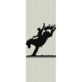 Bucking Horse Silhouette Loom Beading Pattern For Cuff