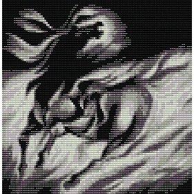 BLACK BEAUTY STALLION SPIRIT  - beading PANEL pattern for loom