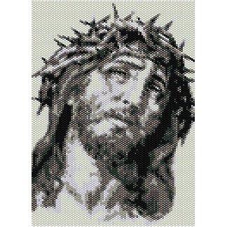 JESUS SUFFERING  - beading PANEL pattern for LOOM SALE